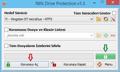 Ntfs Drive Protection Kullanımı
